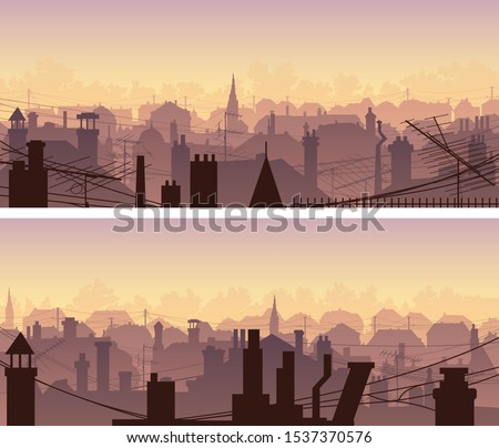 set of horizontal banners of