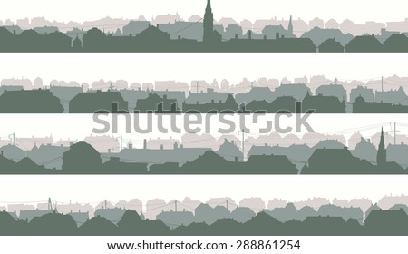 stock-vector-set-of-horizontal-banners-of-old-historic-european-city-in-pale-morning-tone
