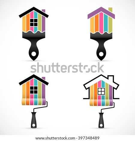 set of house renovation icons