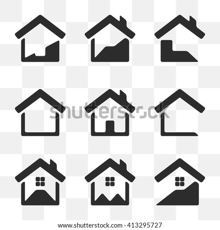 Set of house vector icons.