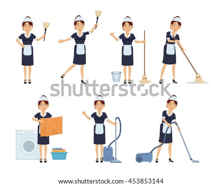 set of housemaid characters
