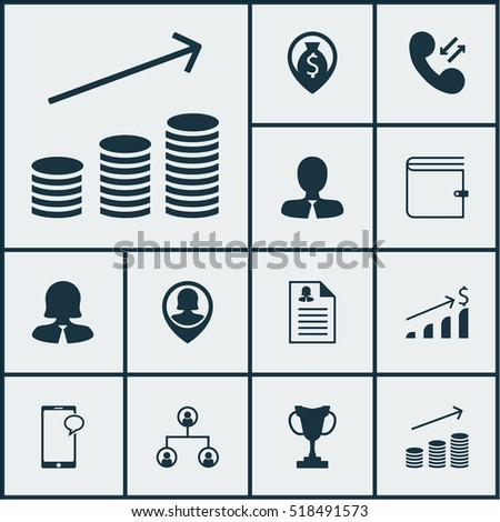 set of hr icons on successful
