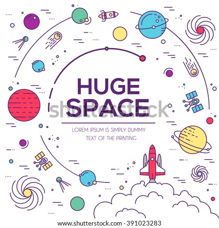 set of huge space universe