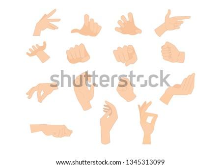 set of human cartoon hands