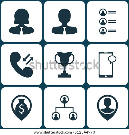 set of human resources icons on