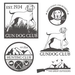 Set of hunting badges
