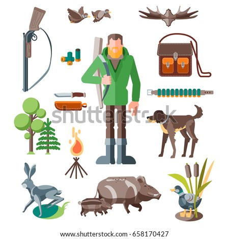 set of hunting sports the