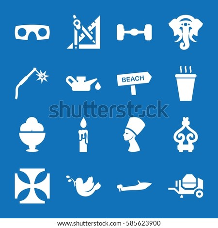 set of 16 icon filled icons