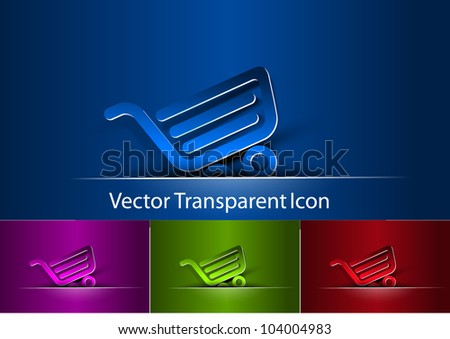 set of icon of shopping cart design.