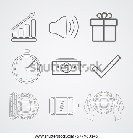set of icons for business  the