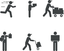 Set of icons for delivery service.
