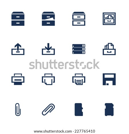 Set of icons for software interface in flat style stock Vector image software