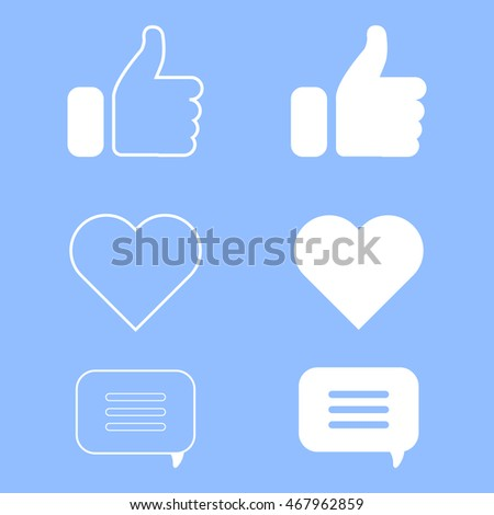 set of icons for website or
