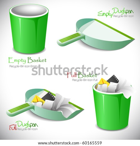 "Set of icons. ""Full"" and ""empty"".Vector illustration"