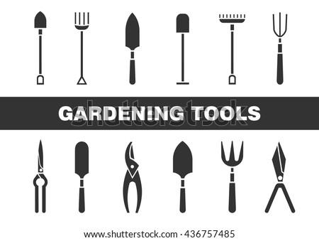 Set Of Icons   Garden Tools. Web Site Design. Spring Season Gardening