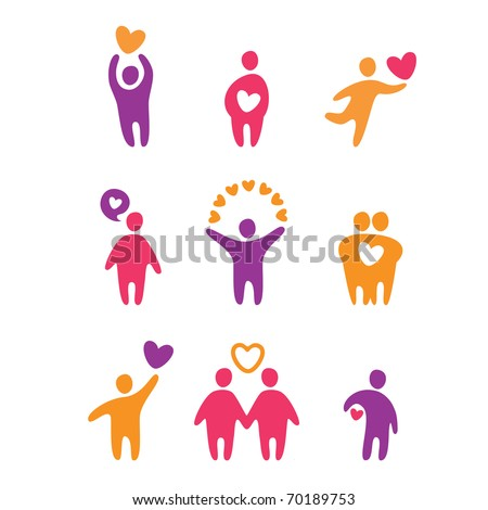 set of icons - love - stock vector