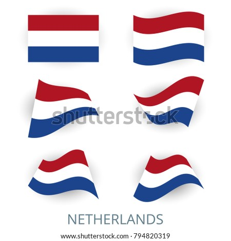 set of icons of the flag of