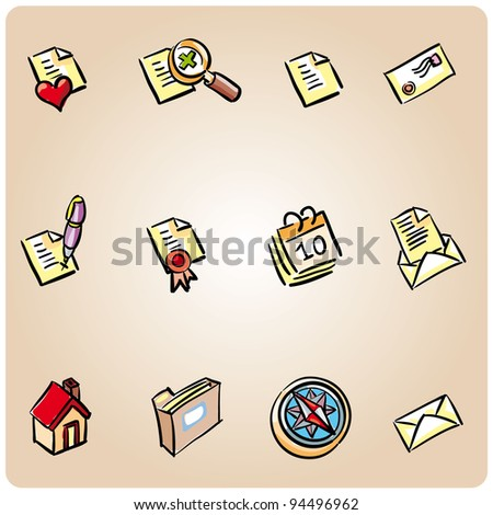 Set of 12 icons ready for the web or some app interface