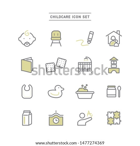 set of icons related to childcare. Stock photo ©