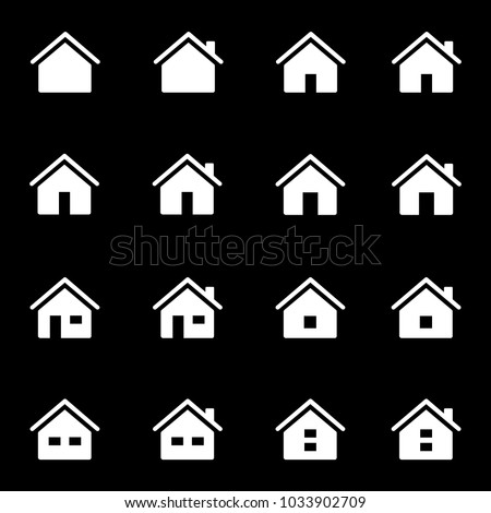 Set of icons representing house or home. Home page sign. Vector Illustration