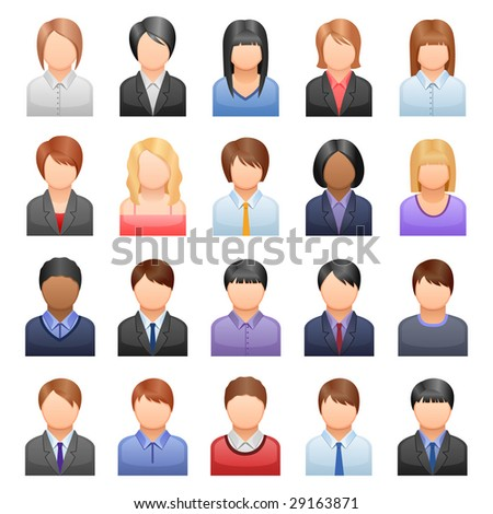 set of icons representing people