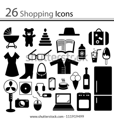 set of icons - shopping (vector)