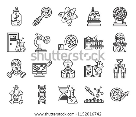 set of 20 icons such as petri
