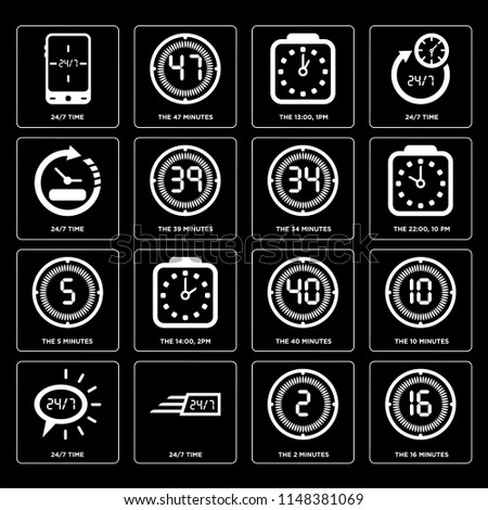 set of 16 icons such as the
