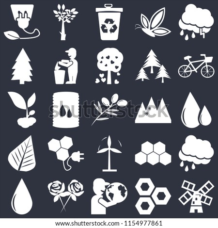 set of 25 icons such as wind