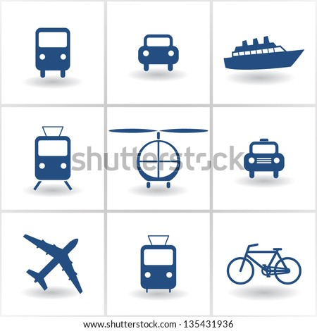 set of icons transport. vector eps10