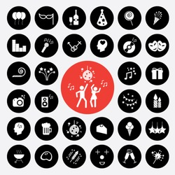 Set of icons vector illustration eps10 : Party icons.