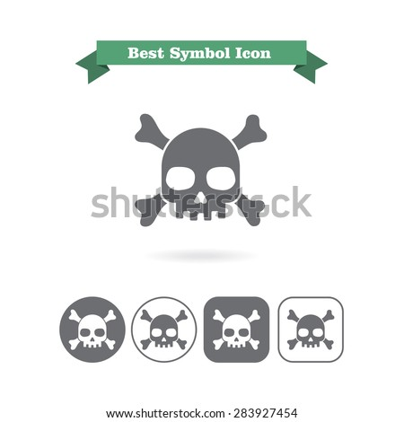 set of icons with skull and