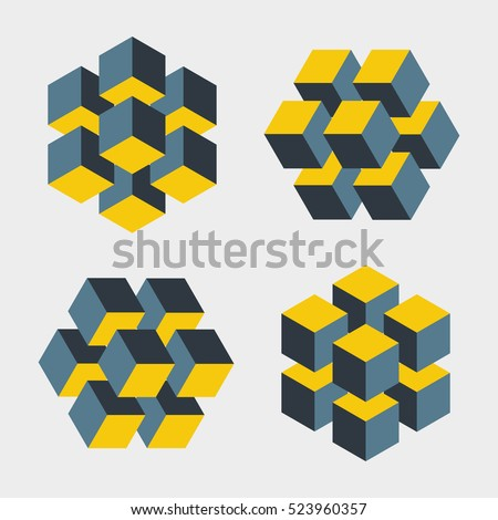 set of illusive cubes