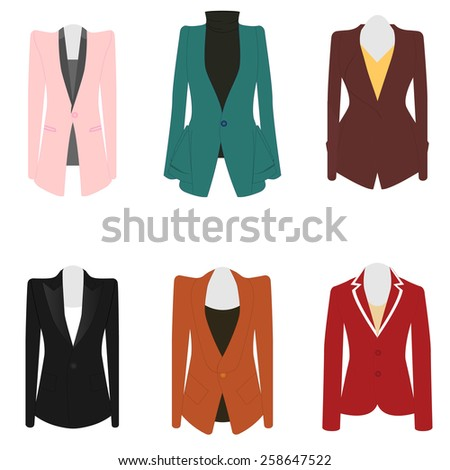 Vector images illustrations and cliparts set of 6 illustration set of 6 illustration business women suit cheaphphosting Image collections