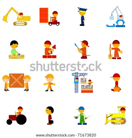 Set of illustration of professions. Vector