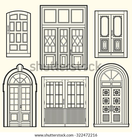 set of illustrations with a...