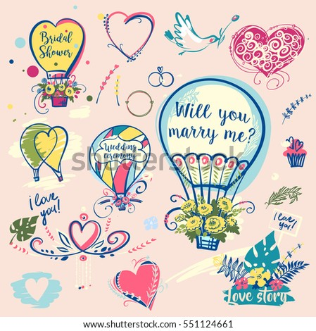 set of image balloon for