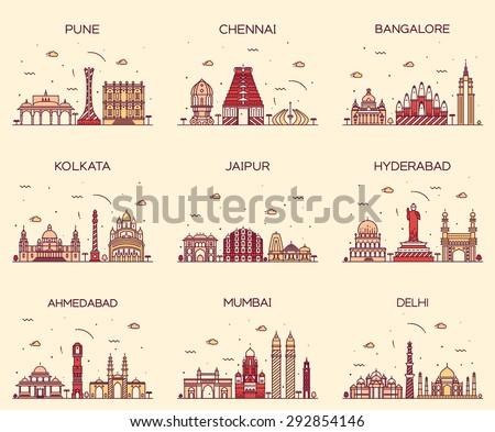 set of indian cities skylines