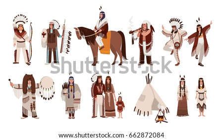 set of indians in traditional