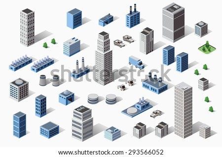 set of industrial and