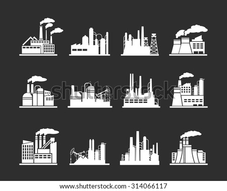 set of industry manufactory...
