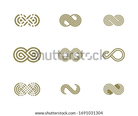 Set of Infinity logo vector template, Creative Infinity logo design concept