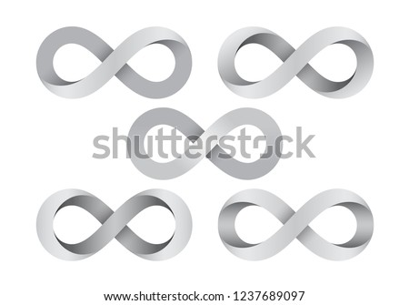 set of infinity signs made of