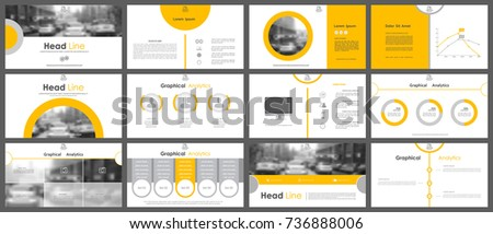 Set of infographic elements for presentation templates. Corporate Business Card. Leaflet, Annual report, book cover design. Modern brochure, layout. Flyer design.