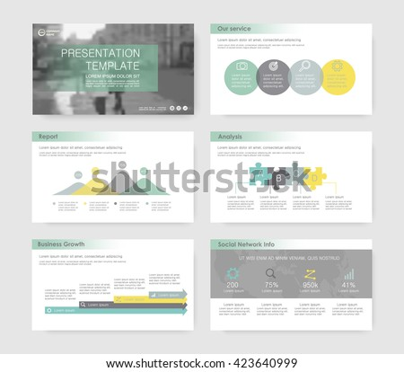 Set of infographic elements for presentation templates. Leaflet, Annual report, book cover design, corporate report . Brochure, layout, Flyer template design. Flat business style set.