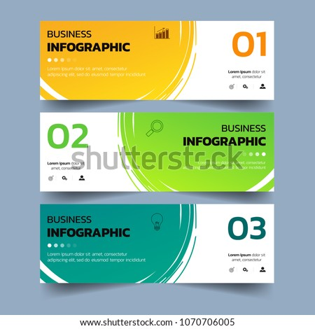 Set of Infographics banners with watercolors splash design.can be used for workflow layout, diagram, web design. Creative banner, label vector.