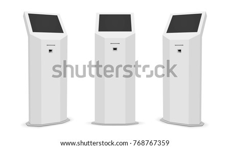 set of information kiosks with