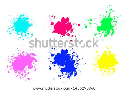 Set of ink splashes. Grunge splatters. Abstract background. Grunge text banners
