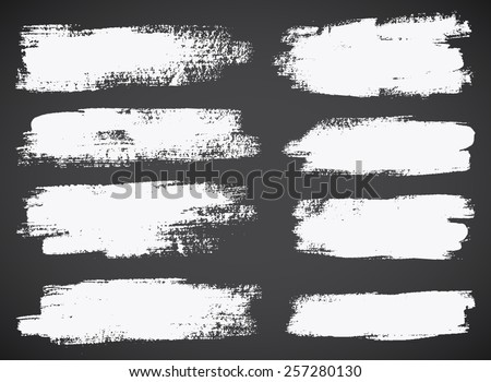 Set of  ink vector stains