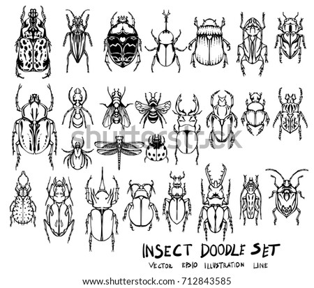 set of insect doodle